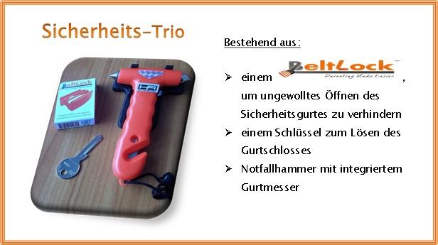 Gurtschloss-Safty-Trio