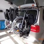 Einziehen des Rollstuhls